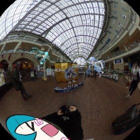 アトリウム会場のフォトスポット📷はこんな感じでした☺️♥️ #雪ミク #初音ミク #miku360