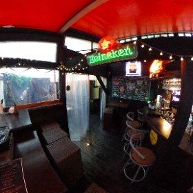 道玄坂ラウンジ「SKY BEER GARDEN」(雨天時で屋根・ビニールカーテンあり) #theta360