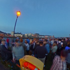 Street Party at the dusk in the Claddagh Quay in Galway #firefly3d #craicingalway #galway2020 #galway360 #theta360