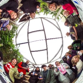 Pinhole solargraph workshop at Plot 22, Hove, with School Of The Wild. Sunday 12 July 2015 #theta360
