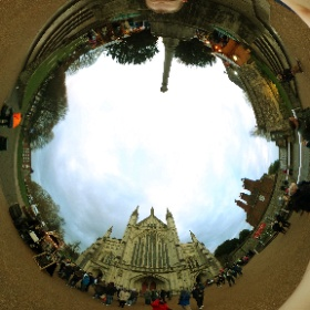 Winchester Cathedral on the last day of the Christmas market. #winchester  #theta360 #theta360uk