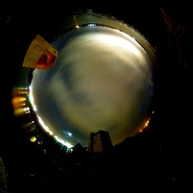 60second at Oranmore Castle after amazing dinner at Armorica Restaurant | Time for #AuroraBoreale #firefly3d #craicingalway #div360 #galway360 #theta360