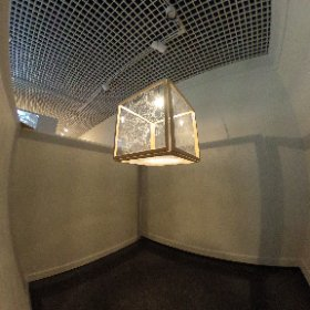 Zakriya Rabani's light piece in the Augmented exhibition at the Museum of Arts and Sciences.
