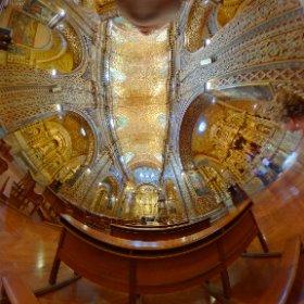 Iglesia la compañía, ubicada en la capital de Ecuador 🇪🇨, Quito. Su construcción duró 160 años. Laminada en oro.  #theta360