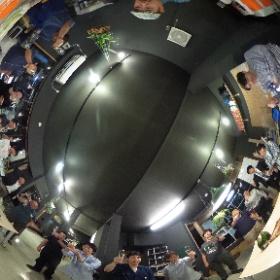 五条烏丸のハードウエアインキュベーション施設「N5.5」のオープニングパーリーの乾杯を、#THETA Sで! #n55 #theta360