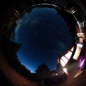 富士宮の星空 毎年クリスマスにお世話になる、富士宮合宿所の星空 #theta360