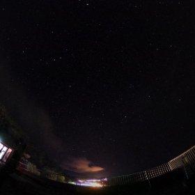 [360度撮影]羅臼の宿まるみ屋上から星空撮影 #theta360