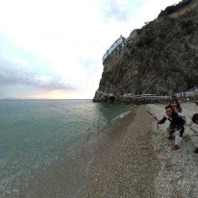 阿瑪菲小海灘 #theta360