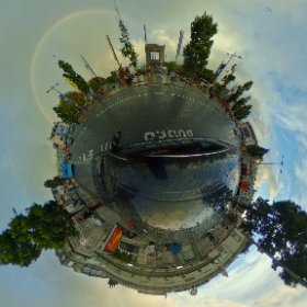 Rainbow for Fringe and the Craic #rain3d #GalwayFringeFestival2017 #thecraic #galway2020 #theta360