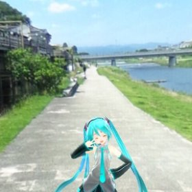 At Kamogawa Kyoto Just U and Me. #miku360 #theta360
