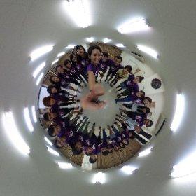野尻小学生キャンプのリーダー、スタッフで円陣シータ^_^ #theta360