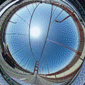 A 360 photograph on the GG Bridge with #deepdream. Thanks to @jamesblaha for his awesome machine whispering capabilities.  #theta360