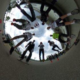 甲子園浜で動きのある全周記念撮影❤ #theta360