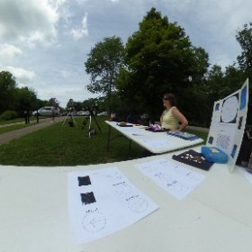 "Donna Bryan with the ""make a constellation"" at the Patoka Lake Nature Center. #theta360"