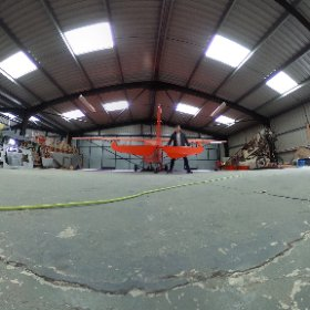 Exploring flying school and checking out old Tiger moth's #flying #theta360 #theta360uk