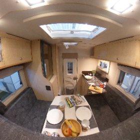 Dies ist die Nordstar Eco 180 Wohnkabine. Alle Infos zu dieser kompakten Absetzkabine findet Ihr auf www.nordstar.de #theta360 #theta360de