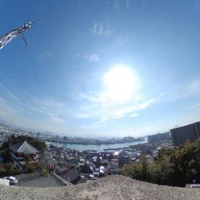 江波山気象館屋上