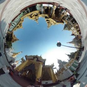 Shwedagon Pagoda, Yangon Myanmar #myanmar #birmanie #yangon #shwedagon ##shwedagonPagoda #hatueyPhotographies #theta360 #theta360fr