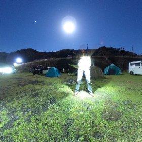 キャンプの夜は、THETAで遊ぶ #theta360