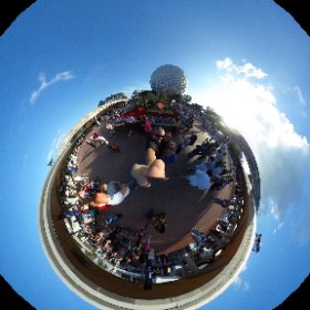 Spaceship Earth selfie! #theta360
