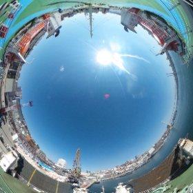 ウラジオストク-境港 フェリーデッキその1 #theta360