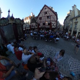 Watching the game from the plaza in Dijon