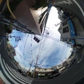 小笠原学園前の交差点@逗子  ドイツ式カイロプラクティック逗子整体院 www.zushi-seitai.com  #theta360