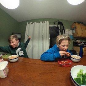 Just an everyday Schmitt meal.  #battleroyal #butterknifebattle #dinner #dinnertime # #theta360