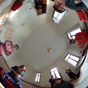 "Student think-tank during the ""Senses"" seminar on the Island of San Servolo, Venice."
