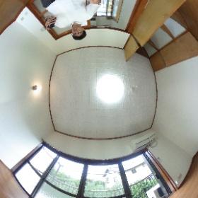 世田谷区等々力にあります「グリーンハイツ等々力」1Kアパートの室内パンラマ風景です。閑静な住宅地でホッとできる空間です。物件詳細はこちらhttp://www.futabafudousan.com/bukken/g/syousai/423dat.html #theta360
