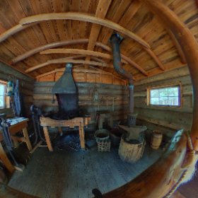 Old time blacksmith display #algonquin #travel #history #blacksmith #sawmill #canada #canada_gram #theta360