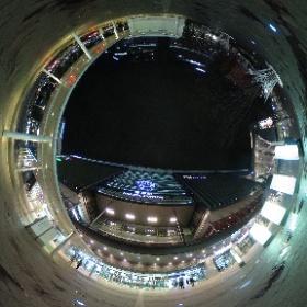夜の博多駅。 #博多駅 #HAKATA STATION #theta360