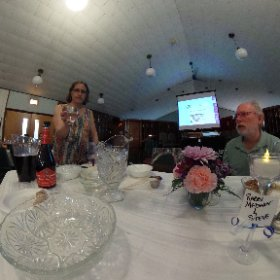 Second night Seder at Temple Sholom in Monticello, NY with Visual Tefillah. #theta360
