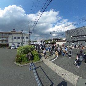 江刺甚句まつり 2018/5/4 14:28頃 鹿踊り待機 #theta360