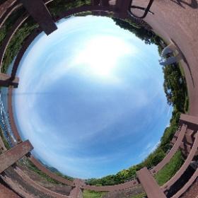 クルスの海展望台(宮崎県日向市)から見える風景。 #theta360
