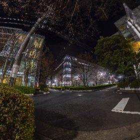No illuminated Street 2020 at ROHM Co. #thetaz1 #snowcrystal3d #theta360