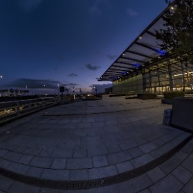 After sunset, Lon  London Heathrow Airport Terminal-4 #thetaz1 #SingleDNG #theta360