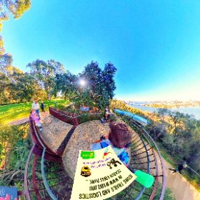 Mt Eliza Lookout Kings Park views from Liz Quay at Perth city CBD south across the Swan river, located https://kingsparkwa.com/MtElizaLookout BEST HASHTAGS  #MtElizaLookout  #KingsParkWA   #PerthCity  #VisitPerthWA   #WaTourism  #Butterfly3d #theta360
