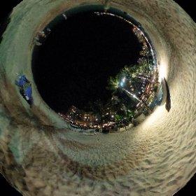 夜の浜辺360度☆モアナサーフライダー前 #ぐりぐりできます #moanasurfrider #theta360contest #theta360