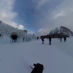 360° view of the Ice wall at @FairmontCLL, Lake Louise,#Banff.