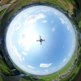 上空100mの360写真 #theta360