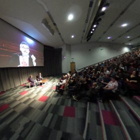 John Landis: Michael Jackson's Thriller video and Hollywood blockbusters director in conversation with Martin Carter at Sheffield Hallam University's Pennine Theatre to promote the city's 2016 Celluloid Screams horror film festival. #theta360 #theta360uk