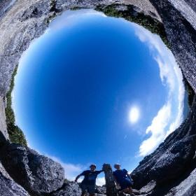 宮之浦岳山頂   屋久島を自由に旅する GREEN MOUNT  #theta360