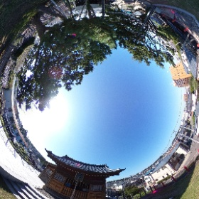 新潟の日和山にある住吉神社からシータ #theta360