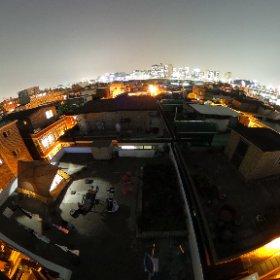 옥상에서 별보기 #theta360