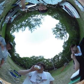 夏キャンプ乾杯! #theta360