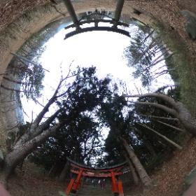 ポケモンGOのジムがある、駒形神社@岩手県宮古市 #theta360