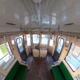 昔の車両で、天井からシータ! #theta360