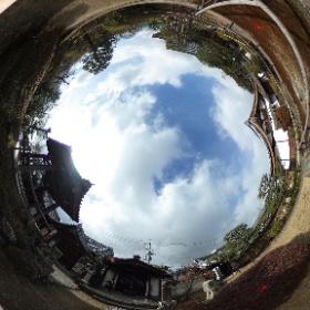360度カメラの試し撮り。石塔寺 #theta360