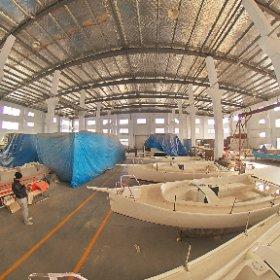 20.5ft sail boat Length:6.2m Mainsail:18.23㎡ Front lateen:8.23㎡ Sail No.0:29.3㎡ #theta360